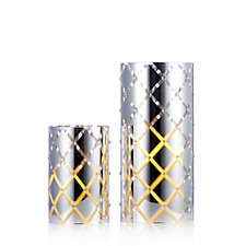 Home Reflections Set of 2 Candle Sleeves with LED Candles