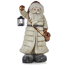 Home Reflections Flameless Standing Santa Porch Greeter with LED Lights