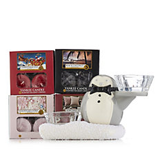 706426 - Yankee Candle Jack Frost Penguin Holder with 48 T Lights