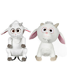 Despicable Me 3 Fluffy Unicorn Backpack & Medium Fluffy Unicorn Plush Toy