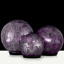 Mr Christmas Set of 3 Indoor/Outdoor Lit Mercury Glass Spheres with Timer