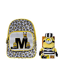 Despicable Me 3 Large Jail Backpack &  Jail Minion Plush Toy