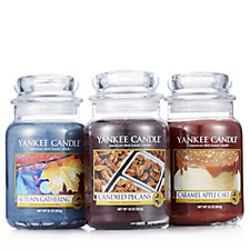 705428 - Yankee Candle Set of 3 Harvest Time Large Jars