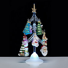 704429 - Santa Express Set of 12 Festive Hanging Ornaments with an LED Glass Tree
