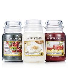 Yankee Candle Set of 3 Festive Cheers Large Jars