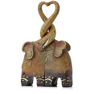 feng shui pair of kissing elephants ornament. Black Bedroom Furniture Sets. Home Design Ideas