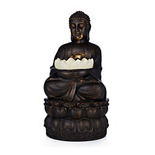 704130 - Bethlehem Lights Buddha Aquaflame Fountain & Flameless Candle