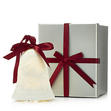 Bella Notte Porcelain Bell Luminary with LED Candle in a Gift Box