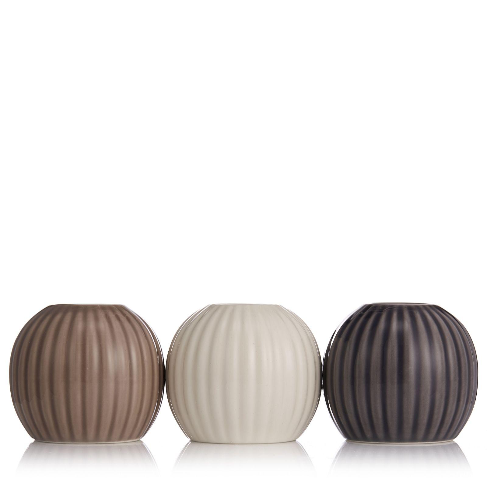 K by kelly hoppen vases home kitchen qvc uk k by kelly hoppen set of 3 bud holder vases 708131 reviewsmspy