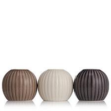 K by Kelly Hoppen Set of 3 Bud Holder Vases