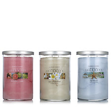 Yankee Candle Set of 3 Exquisite World Journeys Large 2 Wick Tumblers