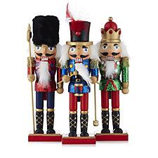 Santa Express Set of 3 Wooden Nutcrackers