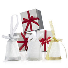 Bella Notte Set of 3 Porcelain Bells with Individual Gift Boxes