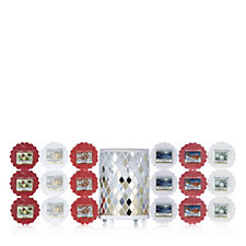 706436 - Yankee Candle 19 Piece Melts Collection with Mosaic Melt Warmer