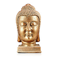Home Reflections Brushed Bronze Indoor/ Outdoor Buddha Head