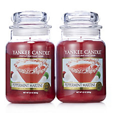 706439 - Yankee Candle Set of 2 Peppermint Martini Large Jars