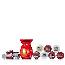 Yankee Candle 15 Piece Melts Collection w/Santa Sleigh Warmer