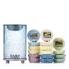 Yankee Candle Cote D'Azur Sandblast Melt Warmer with 16 Melts