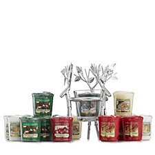 Yankee Candle 19 Piece Votive Collection w/Silver Reindeer Holder