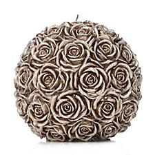 Candle De Fleur Large Rose Ball Candle