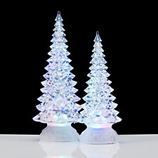 704843 - Santa Express Set of 2 Colour Changing LED Christmas Trees