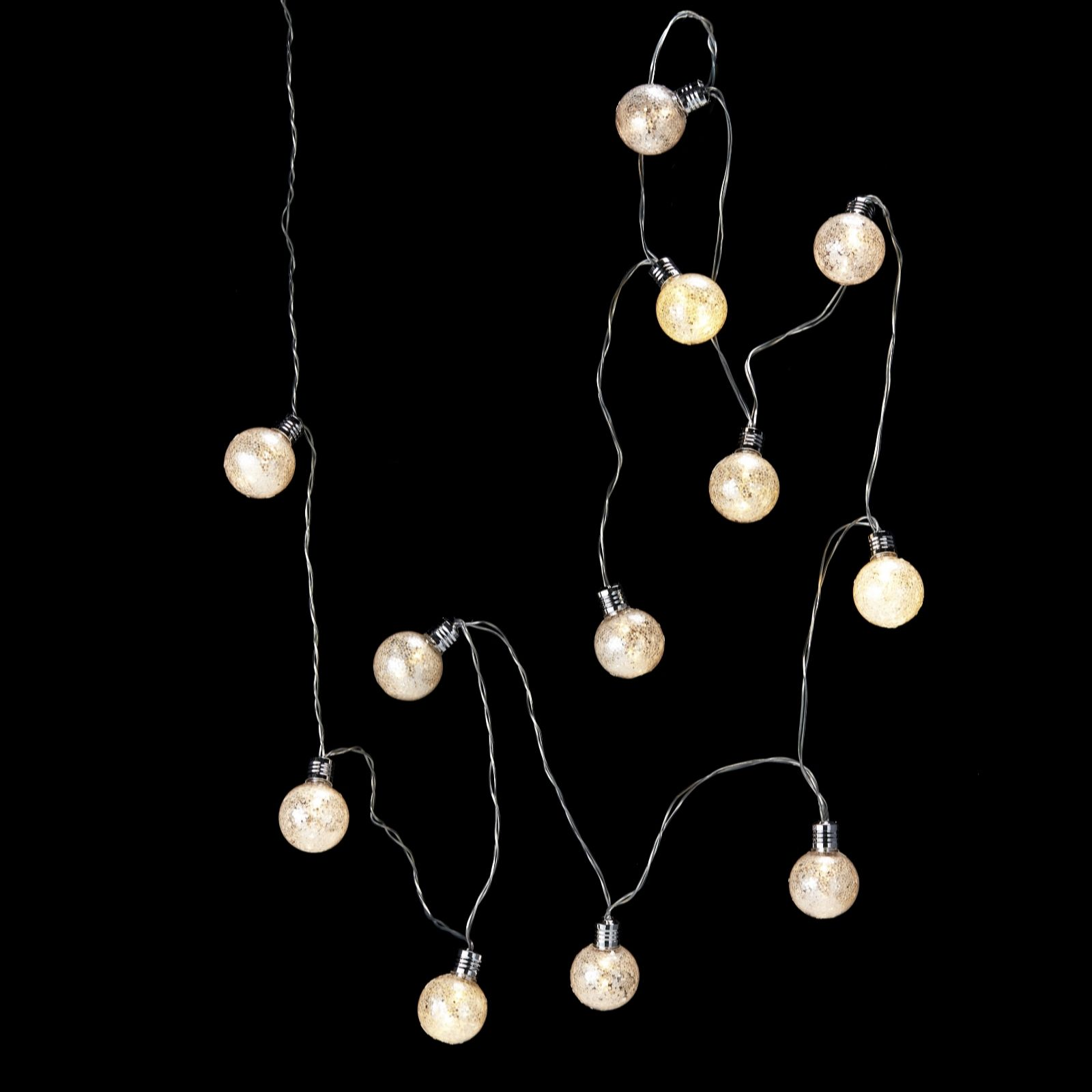 Battery String Lights Indoor : Battery Operated 12 LED Indoor String Lights - 704344 QVCUK.com