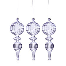 Home Reflections Set of 3 LED Hanging Finials