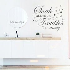 Nutmeg Designs Soak Your Troubles Away Bathroom Wall Stickers