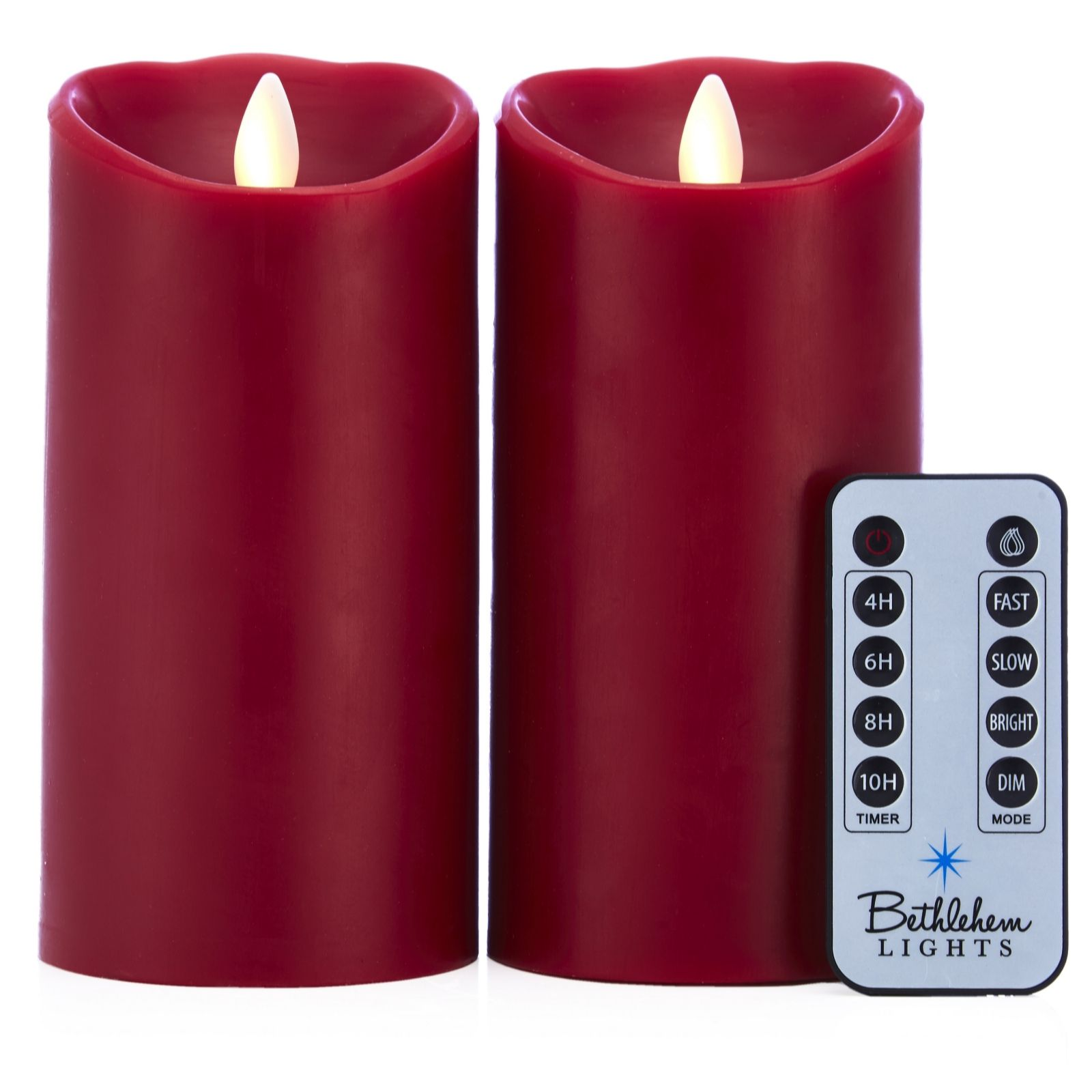 Bethlehem Lights Set Of 2 Touch Candles With Remote Control   707446