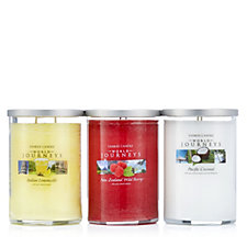 705647 - Yankee Candle Set of 3 USA Special 2 Wick World Journeys Tumblers