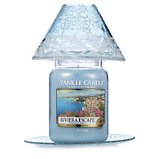 Yankee Candle Cote D'Azur Sandblast Large Shade & Tray with Large Jar