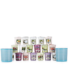 Yankee Candle Aqua Sanremo Votive Holders with 18 Votives
