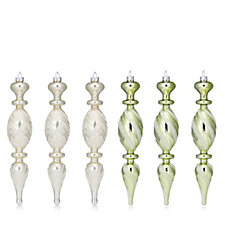 Alison Cork Set of 6 Vintage Glitter Finials