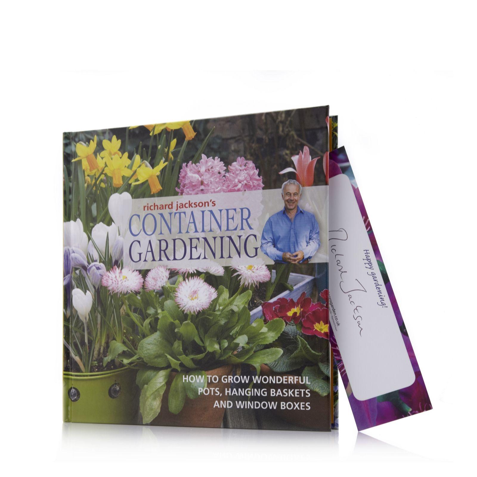 Richard Jacksonu0027s Container Gardening Hardback Book W/ Signed Bookmark    701351