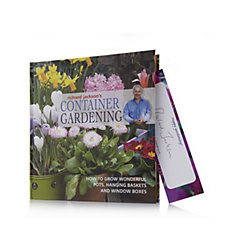 Richard Jackson's Container Gardening Hardback Book w/ Signed Bookmark