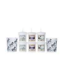 Yankee Candle White Zebra Votive Holders with 12 Votives - 704951