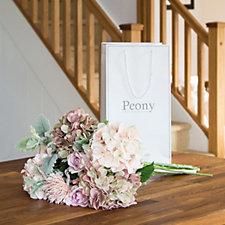 Peony Seasonal Spring Bouquet in Presentation Bag