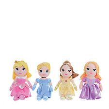 Disney Princess Set of 4 Small Plush
