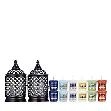 Yankee Candle Portofino Lantern Votive Holders with 12 Votives