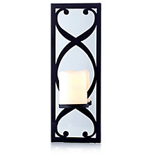 Bella Notte Flameless Mirrored Wall Sconce with LED Votive Wax Candle