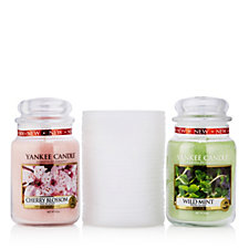 Yankee Candle Tranquillity Jar Holder with 2 Large Jars