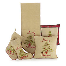 5 Piece Festive Embroidered Textile Set
