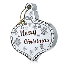 Santa Express Hanging LED Bauble with Mirrored Background