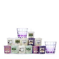 Yankee Candle Purple Circles Votive Holders with 12 Votives