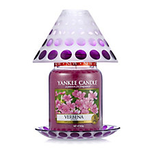 Yankee Candle Purple Circles Large Shade Tray & Verbena Large Jar