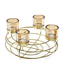Home Reflections Votive Centrepiece with Four Glass Holders