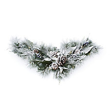 Bluebird & Bramble Pre-lit Snow Fallen Wreath 20 LED Lights