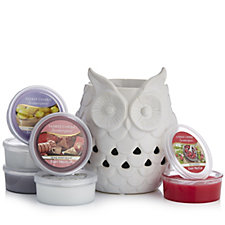 Yankee Candle Glowing Owl Scenterpiece with 6 Melt Cups