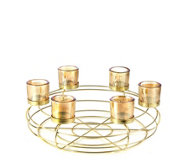 Home Reflections Votive Centrepiece with Six Glass Holders