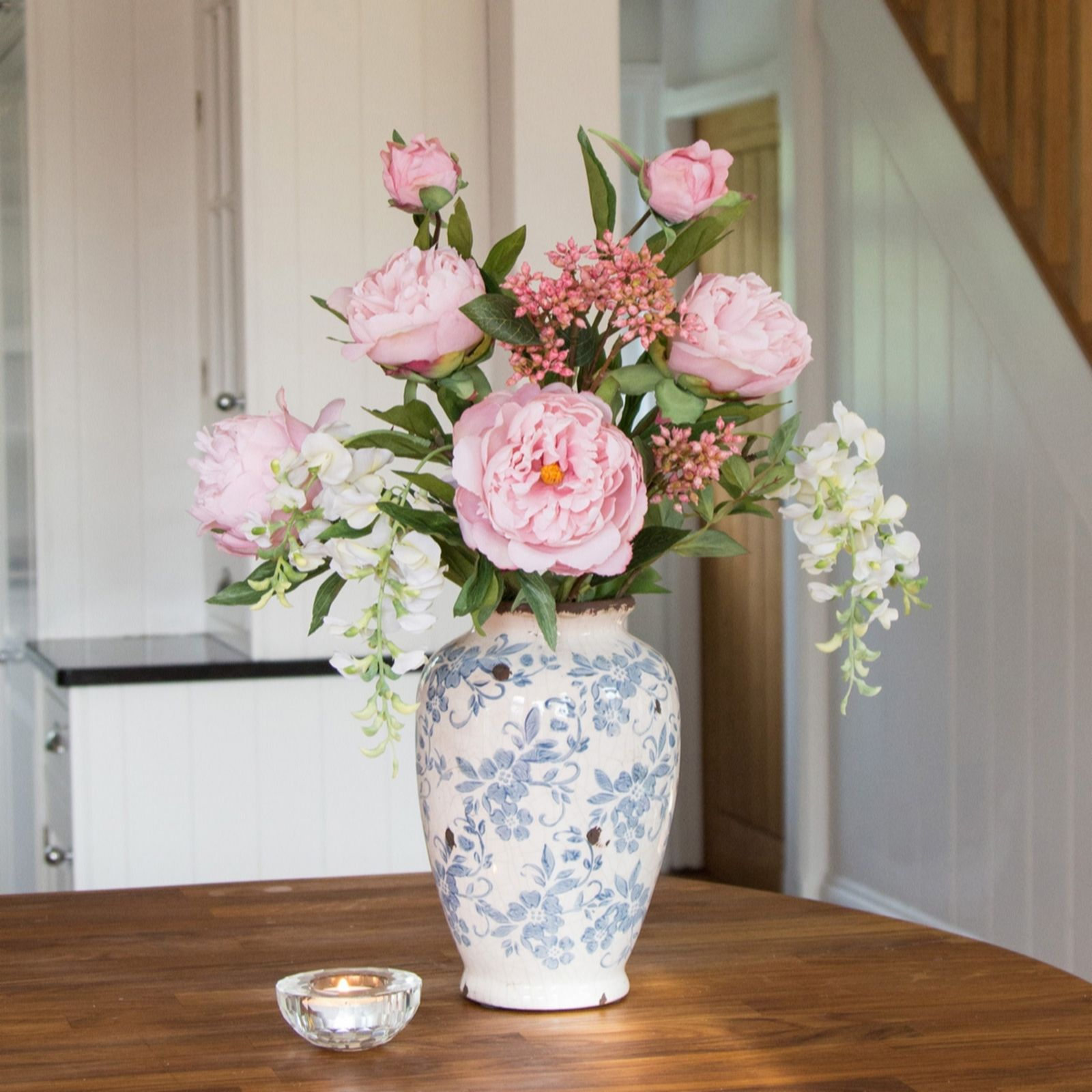 peony peonies in a vintage ceramic vase 706661 - Home Decor Uk